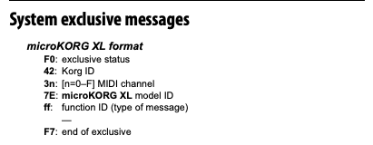 System Exclusive Messages